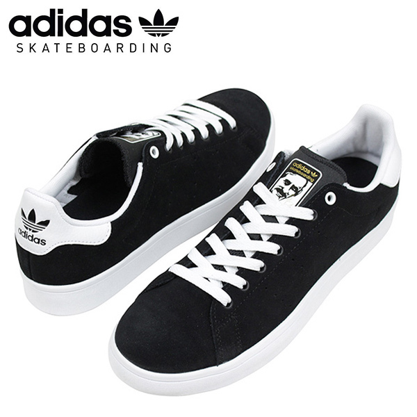 buy popular 54112 1de32 adidas skateboarding Adidas STAN SMITH VULC men sneakers BLACK  スタンスミススケートブラックスエードスケートボードスケシュー SB black BB8743 Rakuten mail order