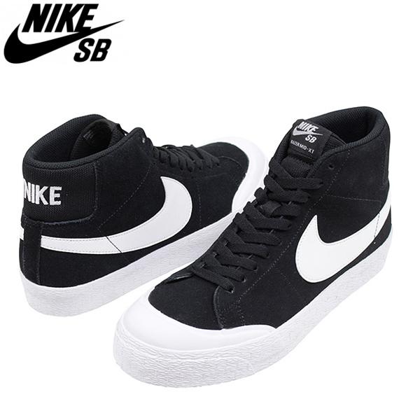 on sale cf19d e8195 NIKE SB Nike BLAZER ZOOM MID XT men sneakers BLACK  ブレザーブレイザーブラックホワイトスケートシューズスケシュー 876,872-019 Rakuten mail order