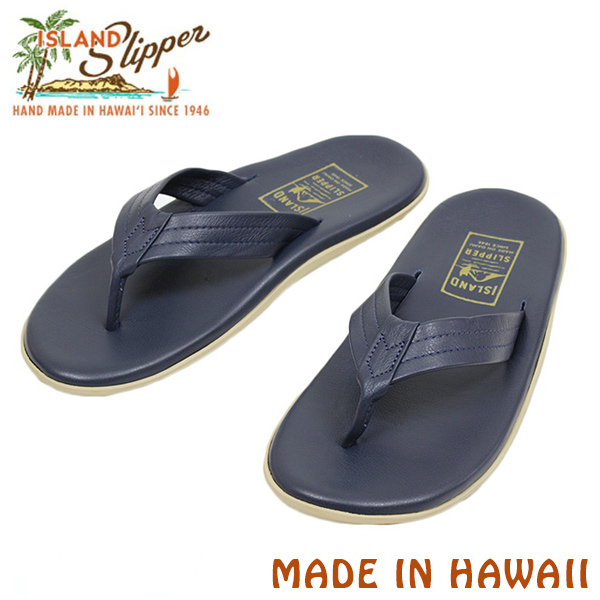 Miami Records Island Slipper Slippers Pt202 Leather Sandals Navy Men S Sandal Spring Summer Blue Handmade Made In Hawaii Usa