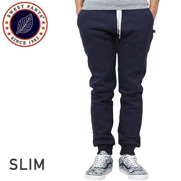 SWEET PANTS スイートパンツ Slim Pants メンズ スウェットパンツ NAVY ネイビー 紺 スリムパンツ テーパード スエット フランス フレンチテリー レディース 聖林公司 HRM 送料無料 通販