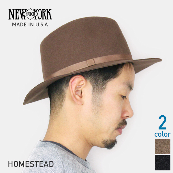 NEW YORK HAT New York Hat Homestead brim wide in wool hat folding  2  colors cdf653d3f73