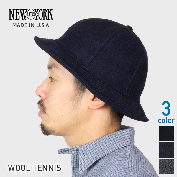 NEW YORK HAT New York Hat Wool Tennis Urba bucket Hat 3 colors men s women s  Safari Hat Hat Hat Black Navy charcoal gray men s Dancewear 30s 40s  fall-winter ... 7856e4028e