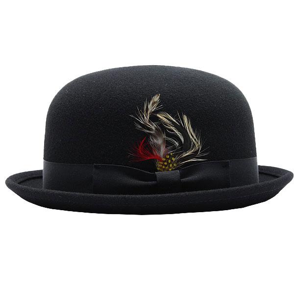 NEW YORK HAT Laurel Derby (the Hat Black mens ladies New York Hat Laurel Derby ウールボーラー Hat #5002)