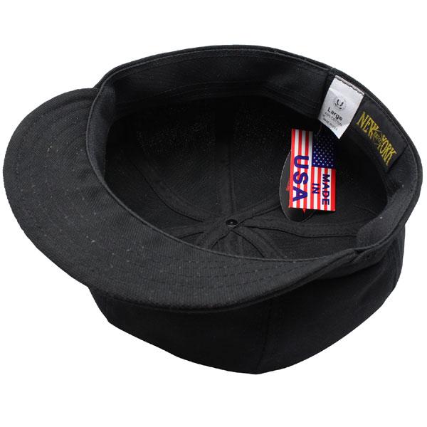 NEW YORK HAT Canvas Spitfire (the black mens ladies Hat hats New York canvas cotton newsboy #6216)