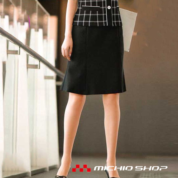 選べるアイテムで印象チェンジを狙うブラックシリーズ 事務服 制服 BONMAX ボンマックス マーメイドスカート AS2247大きいサイズ21号オフィスユニフォームスーツビジネスカジュアル事務服