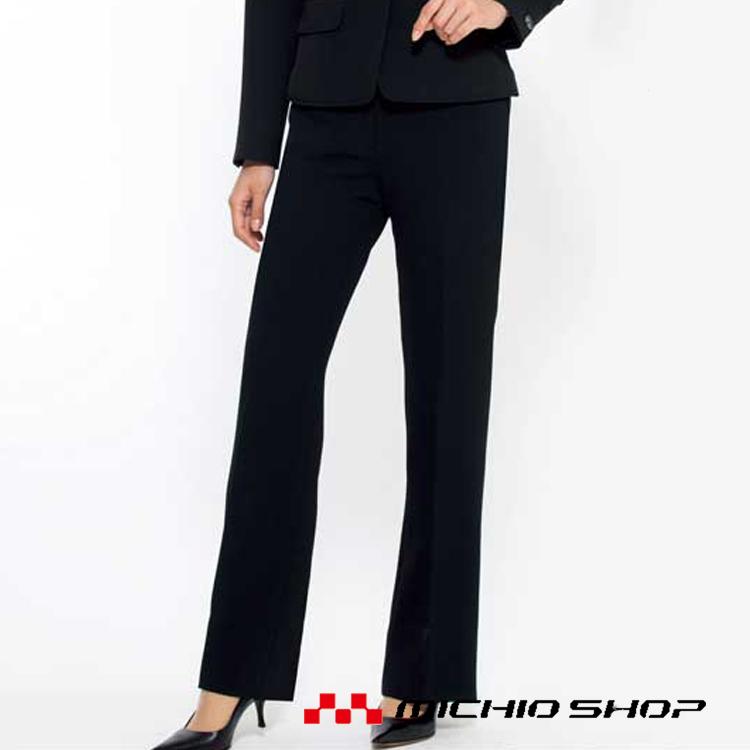 夏でもブラックスーツ着用が必須な接客業やオフィスの為の、涼しく軽やかで快適なブラック。 事務服 制服 BONMAX ボンマックス パンツ 春夏 LP6714大きいサイズ21号オフィスユニフォームスーツビジネスカジュアル事務服