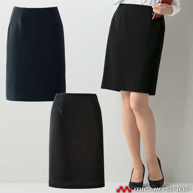 事務服 制服 en joie アンジョア タイトスカート 51870 大きいサイズ17号・19号
