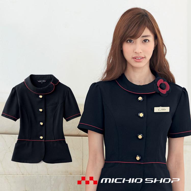 事務服 制服 en joie アンジョア サマージャケット オーバーブラウス86465 大きいサイズ17号・19号
