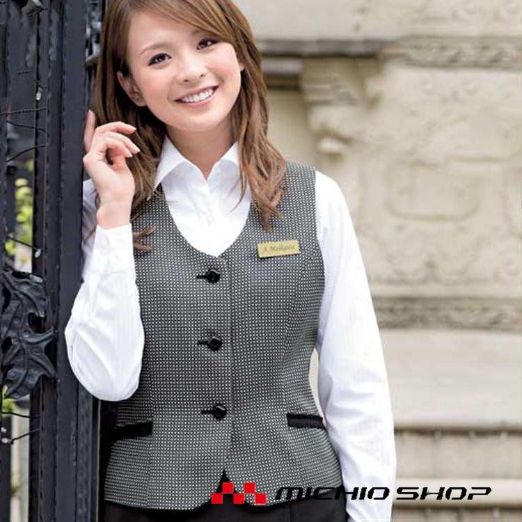 事務服 制服 en joie アンジョアベスト11570オフィスユニフォームスーツビジネスカジュアル事務服