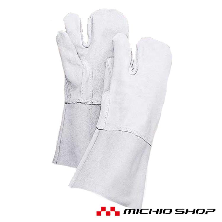 溶接用手袋 働楽床熔接3本指溶接手袋 10双30T 大中産業作業手袋