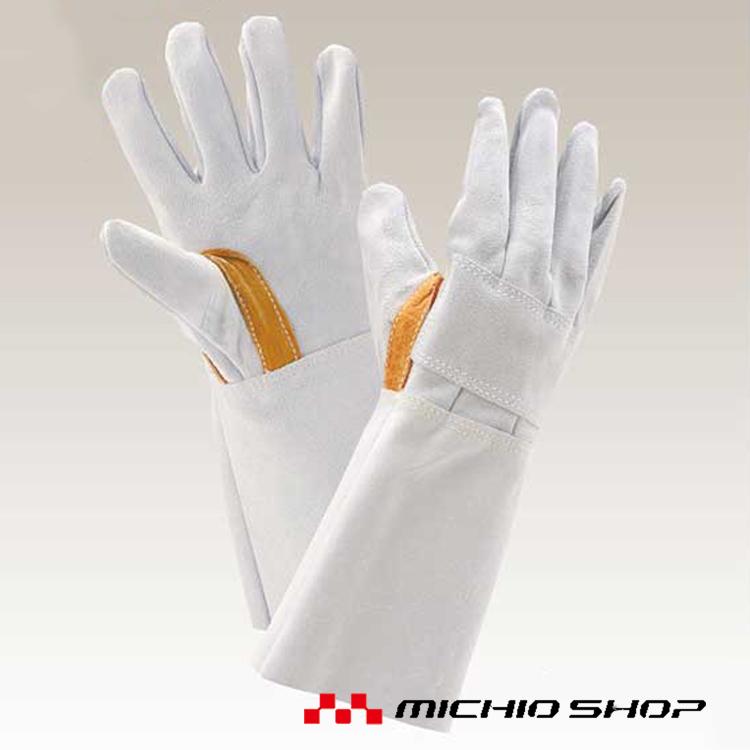 溶接用手袋 働楽床熔接5本指(手の甲当付)溶接手袋 10双56T 大中産業作業手袋