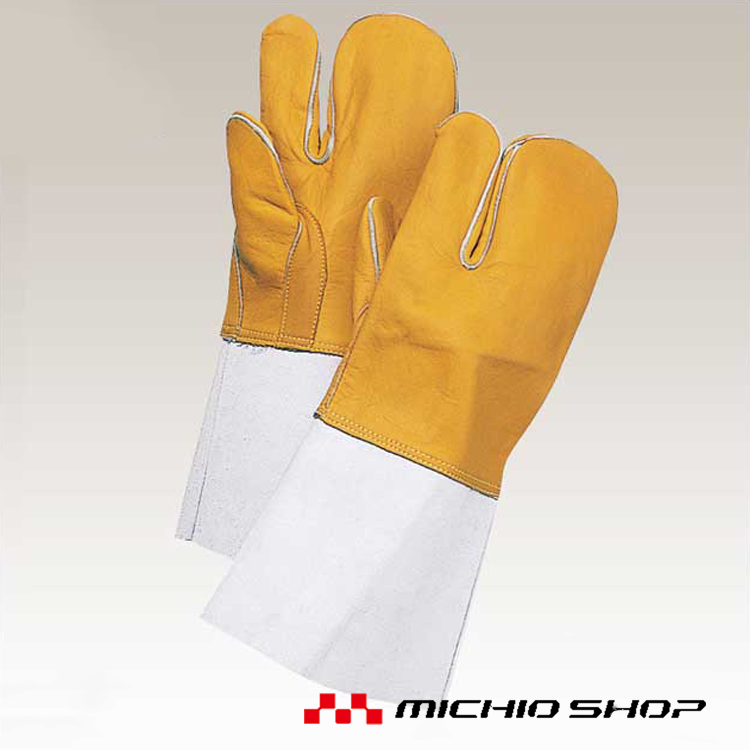 溶接用手袋 働楽牛コンピ3本指溶接手袋 10双YG-3 大中産業作業手袋