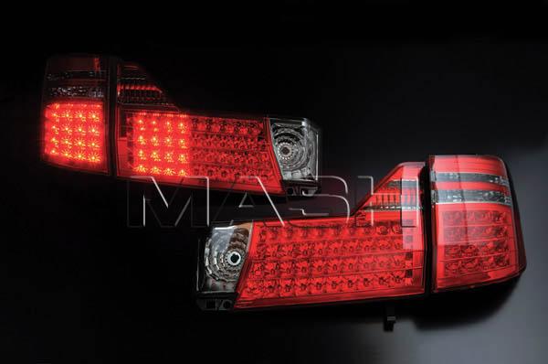片側52個のLEDを内蔵 LEDテール アルファード 10 レッド 5%OFF クリア 15系 年末年始大決算
