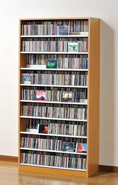 CDラック DVDラック 日本製 大容量 TCS890 Nナチュラル 幅89cm 最大CD1503枚収納!