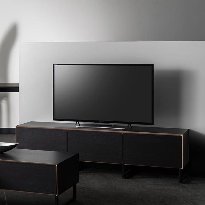 欠品中 開梱設置 テレビボード MKマエダ アルバ ALBL-150 UBK ブラック 幅150cm メラミン化粧板 スチール脚タイプ TVボード スタイリッシュ おしゃれ