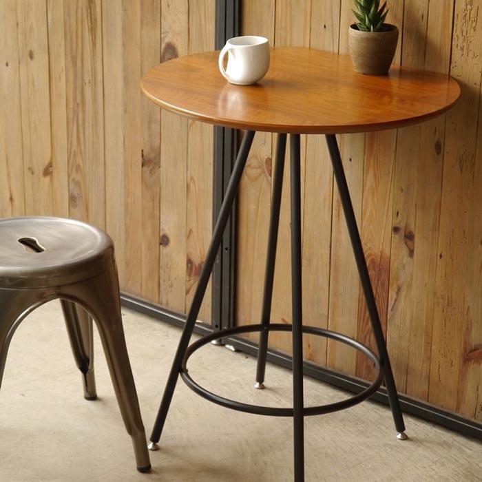 マート マルチテーブル カフェテーブル おしゃれ ルアール 円形 壁付け BR ブラウン 100%品質保証