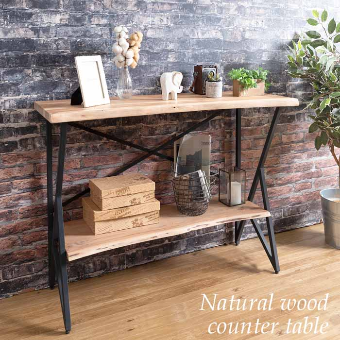 カウンターテーブル コンソールテーブル 天然木 おしゃれ 西海岸 MASALA KNT-L760N