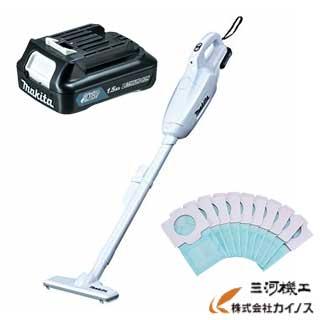マキタ お得なバッテリセット <CL107FDSHW>+<BL1015>+<A-48511> (makita セット品 送料無料 お得 掃除機 充電式 クリーナ バッテリ 紙パック)