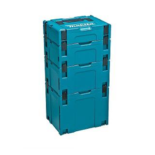 マキタ マックパックシリーズ <A-60545> タイプ1+2+3+4 セット品 【積み重ね 連結 最安値挑戦 激安 通販 おすすめ 人気 価格 安い ケース 箱 移動 運搬 電動工具用ケース 工具入れ 道具入れ 工具箱 ツールボックス プラスチック バッグ】