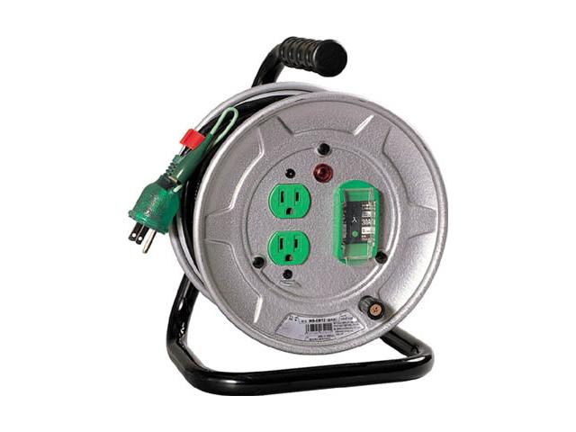 日動工業 一般用標準型コードリール 100V 10m アース付 過負荷漏電保護用 <NS-EB12> 日動 工業 コードリール アースリール コード リール コンセント ビックリール びっくりーる 電工ドラム 15m巻 dy-15 アース棒 ニチドウ
