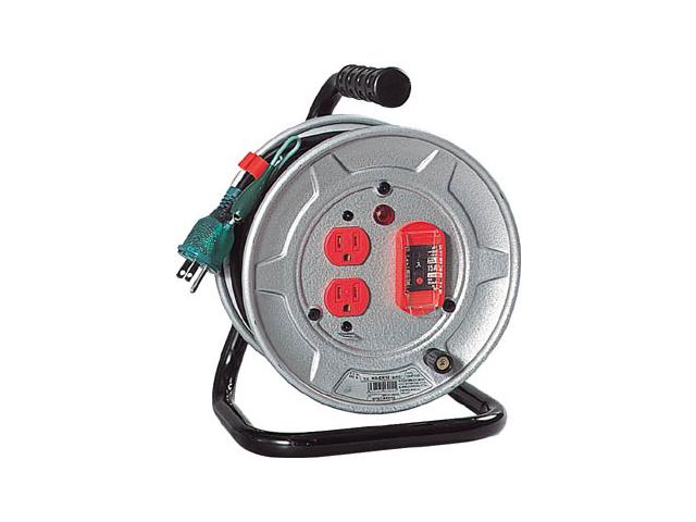 日動工業 一般用標準型コードリール 100V 10m アース付 過負荷漏電保護用 <NS-EK12> 日動 工業 コードリール アースリール コード リール コンセント ビックリール びっくりーる 電工ドラム 15m巻 dy-15 アース棒 ニチドウ