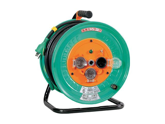 日動工業 一般用防雨・防じん型コードリール 100V 30m <NW-E33> 日動 工業 コードリール アースリール コード リール コンセント ビックリール びっくりーる 電工ドラム 15m巻 dy-15 アース棒 ニチドウ