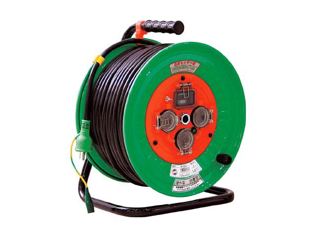 日動工業 一般用防雨・防じん型コードリール 100V 50m <NW-EB53> 日動 工業 コードリール アースリール コード リール コンセント ビックリール びっくりーる 電工ドラム 15m巻 dy-15 アース棒 ニチドウ