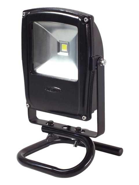 日動工業 LEDフラットライト 床スタンド式 黒 10W 100V/200V兼用 電線長 3m <LEN-F10S-BK> 【led-fl LED投光器 投光機 電動工具 DIY 特価 通販 ガブリエル・ペッツィーニ Flat Light おすすめ 人気】