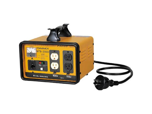 日動工業 変圧器 降圧専用トランス 2kVA 安全ブレーカ付 <NTB-200D>【トランス 激安 通販 おすすめ 人気 セール 比較 16,200円以上は 送料無料 工事現場 安全 工事 電気 工事用変圧器 】