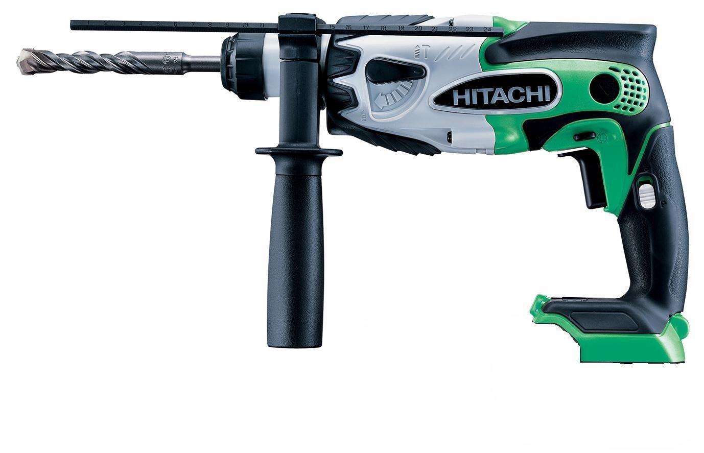 HiKOKI ハイコーキ(旧日立工機) コードレス ロータリーハンマドリル (SDSプラス) 14.4V <DH 14DSL(NN)L> アグレッシブグリーン 本体のみ・バッテリなし 【緑色 電動工具 おすすめ】