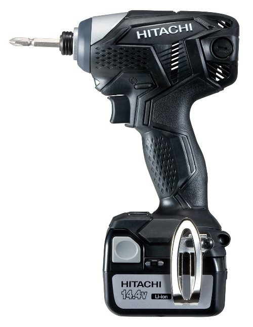 HiKOKI ハイコーキ(旧日立工機) コードレスインパクトドライバー <WH14DKL2LSCKB> 14.4V 3.0Ah セット品 バッテリー 2個・急速充電器・ケース付き ストロングブラック 【充電式電動ドライバー 電動ドライバードリル】【WH14DKL(2LSCK)B】