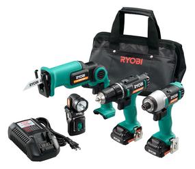 【送料無料】リョービ(RYOBI) 充電式工具 コンボセット <BCK-1100> 【オールインワン インパクトドライバー ドライバドリル 小型レシプロソー LEDライト 電池パック 充電器 収納バッグ】
