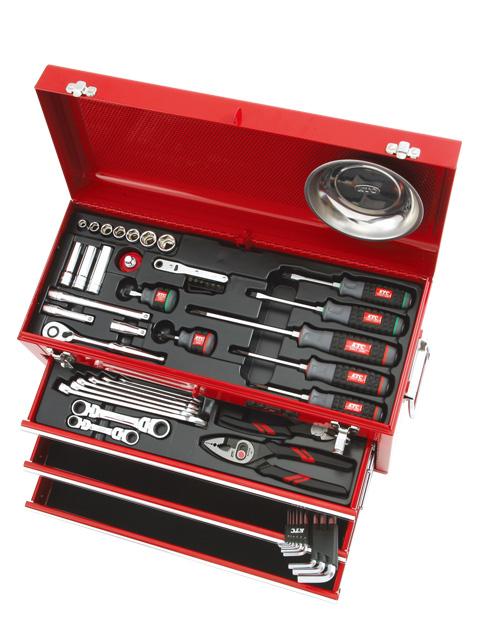 KTC(京都機械工具) 工具セット(チェストタイプ) 9.5sq. 入組56点 <SK3567X> 【工具箱 ツールボックス ツールセット バイク 時計 スナップオン シグネット おすすめ 自転車 価格 ストレート】