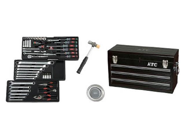 KTC(京都機械工具) 工具セット(チェストタイプ) 9.5sq. 入組65点 ブラック <SK3650XBK> 【工具箱 ツールボックス ツールセット バイク 時計 スナップオン シグネット おすすめ 自転車 価格 ストレート】