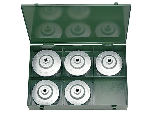 KTC(京都機械工具) 自動車専用ツール 大径用カップ型オイルフィルタレンチセット(5個組) <AVSA5>