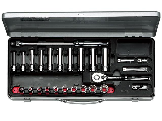 KTC(京都機械工具) 汎用ツール 9.5sq. ソケットレンチセット 26点 <TB3X20> 【21 ktc 12.7 寸法 サイズ jis 差し込み角 比較 使い方 工具 通販 おすすめ 人気 アダプター 3517】