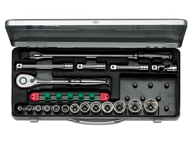 KTC(京都機械工具) 汎用ツール 12.7sq. ソケットレンチセット 19点 <TB413> 【21 ktc 12.7 寸法 サイズ jis 差し込み角 比較 使い方 工具 通販 おすすめ 人気 アダプター 3517】