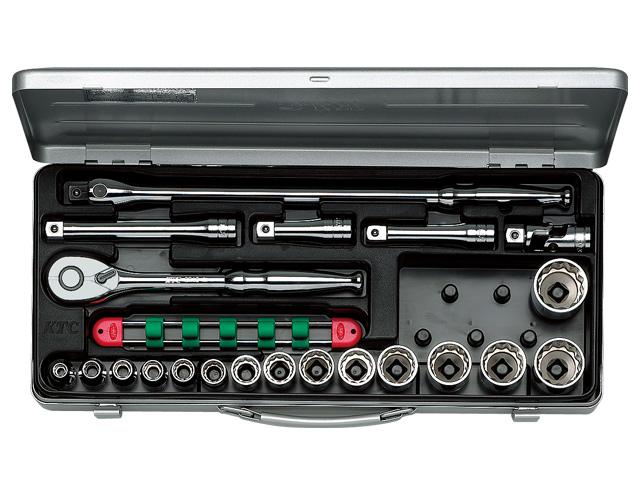 KTC(京都機械工具) 汎用ツール 12.7sq. ソケットレンチセット 21点 <TB415X> 【21 ktc 12.7 寸法 サイズ jis 差し込み角 比較 使い方 工具 通販 おすすめ 人気 アダプター 3517】