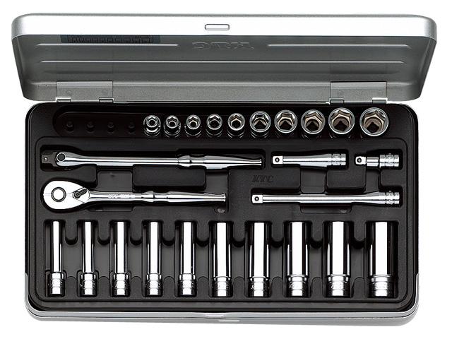 KTC(京都機械工具) 汎用ツール 6.3sq. ソケットレンチセット 25点 <TB2X20> 【21 ktc 12.7 寸法 サイズ jis 差し込み角 比較 使い方 工具 通販 おすすめ 人気 アダプター 3517】