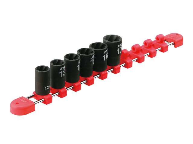 KTC(京都機械工具) 汎用ツール 9.5sq. ツイストソケットセット 6個組 <TB3TW06>