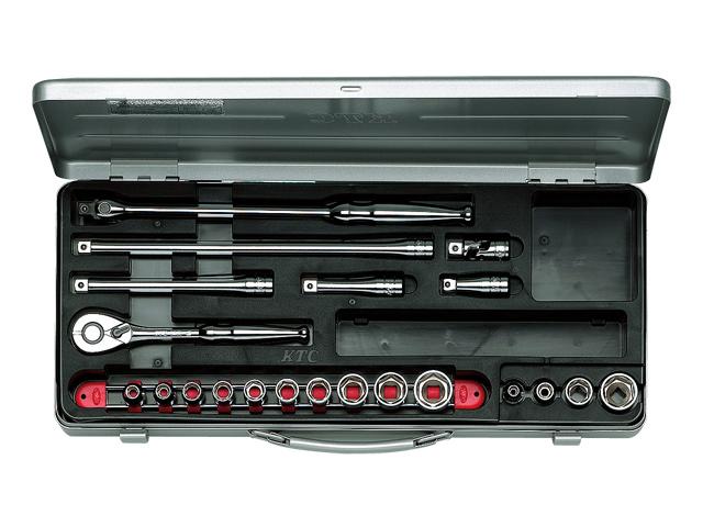 KTC(京都機械工具) 汎用ツール 9.5sq. ソケットレンチセット 21点 <TB314> 【21 ktc 12.7 寸法 サイズ jis 差し込み角 比較 使い方 工具 通販 おすすめ 人気 アダプター 3517】