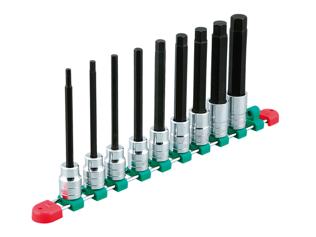 KTC(京都機械工具) 汎用ツール 12.7sq. ロングヘキサゴンビットソケットセット 9個組 <TBT4L09BH>