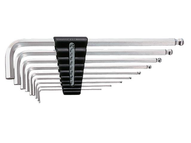 KTC(京都機械工具) 汎用ツール ハイグレードボールポイントL形 ロング六角棒レンチセット 9本組 <HLD2509B>