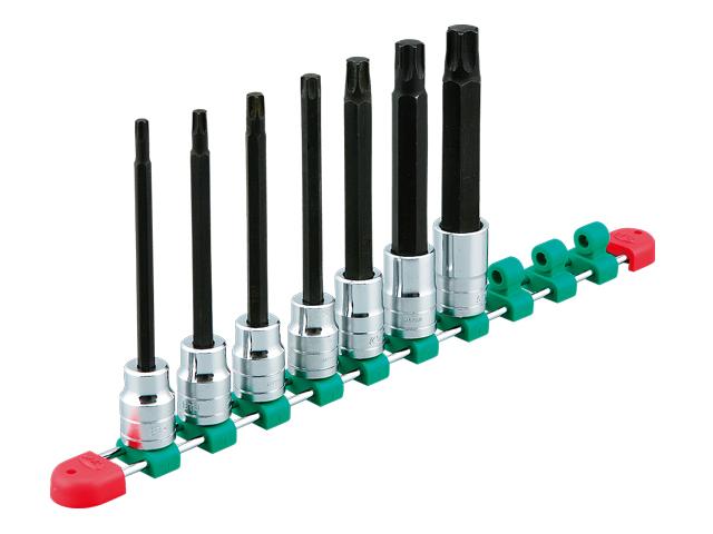KTC(京都機械工具) 汎用ツール 12.7sq. ロングT型 トルクスビットソケットセット 7個組 <TBT4L07T>