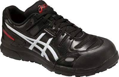 アシックス(asics) 作業用靴 ウィンジョブ CP103 ブラック×ホワイト FCP103 9001 <22.5cm~30.0cm> 【安全靴 スニーカー 防水 レディース 限定 76 16200円以上は 送料無料 マジックテープ おすすめ おしゃれ 】