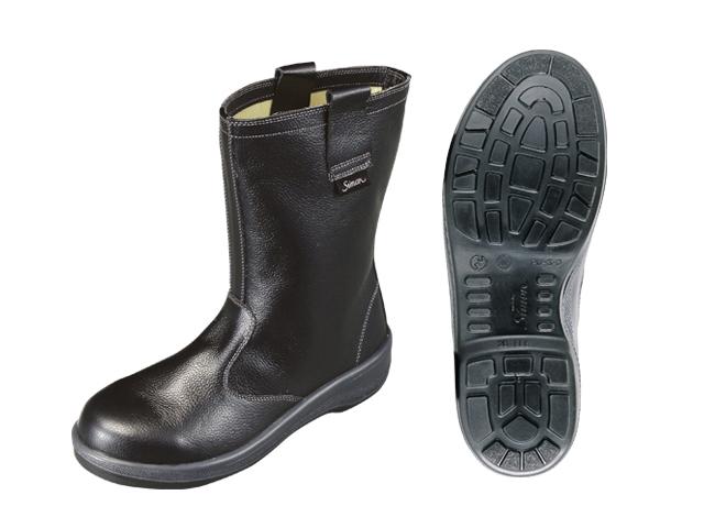 シモン(Simon) ロングセラー安全靴(作業靴) 半長靴 7544 黒 <23.5cm~28.0cm> 【安全靴 16200円以上は 送料無料 安い靴安全靴 おすすめ おしゃれ ランキング 防寒 雪 メンズ レディース 白 ショート ボランティア 女性用】