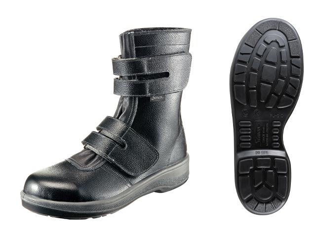 シモン(Simon) ロングセラー安全靴(作業靴) 長編上 7538 黒 <23.5cm~28.0cm> 【安全靴 蒸れない レディース 16200円以上は 送料無料 安い靴 寅壱 セーフティースニーカー安全靴 25.5 滑らない おしゃれ ランキング】