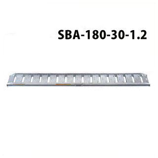 昭和ブリッジ販売 SBA型アルミブリッジ2本1組 ツメ <SBA-180-30-1.2> 【SBA-180-30-1.2 アルミブリッジ2本セット 通販 おすすめ 人気 価格 安い SHOWA 歩行農機用 コンバイン用 スロープ ツメフック 激安 通販 はしご】