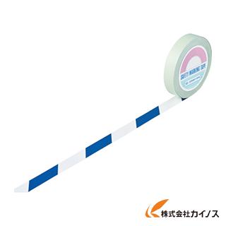 緑十字 ガードテープ(ラインテープ) 白/青(トラ柄) 25mm幅×100m 148025 【最安値挑戦 激安 通販 おすすめ 人気 価格 安い おしゃれ】