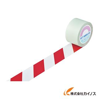 緑十字 ガードテープ(ラインテープ) 白/赤(トラ柄) 75mm幅×100m 148103 【最安値挑戦 激安 通販 おすすめ 人気 価格 安い おしゃれ】